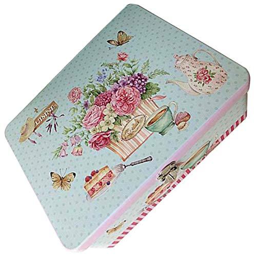 Caja de almacenamiento de cajas de seguridad de caja de almacenamiento de caja de seguridad de patrón de flores pequeñas