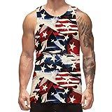 Freshhoodies Mens Tank Tops America Flag Graphic Sleeveless Tee Shirts Fashionable Casual Tank Shirts for Men & Teenage Boys (Flag-1, X-Large)