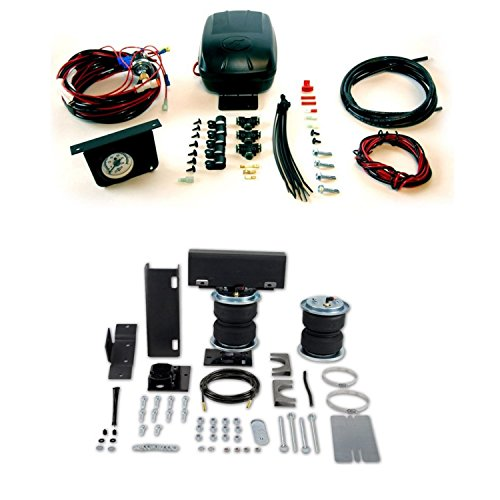 Air Lift 57216 25592 Rear Set of Load Lifter 5000 Series Air Springs with Load Controller II Compressor System Bundle for Chevrolet GMC ()