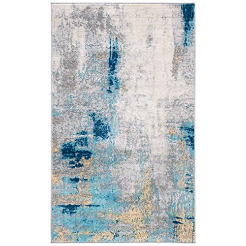 Safavieh Jasper Collection JSP101A Grey and Gold 3 x 5 Area Rug