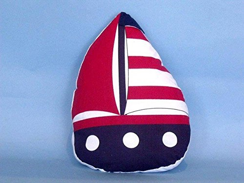 Handcrafted Decor Y-60777-Red Patriotic Red with Red Stripes Sailboat Door Stopper44; 10 in. (Stopper Door Sailboat)