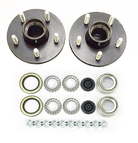 - LIBRA Set of 2 Trailer Idler Hub Kits 5 on 4.5 for 2000 lbs Axle 1-1/16