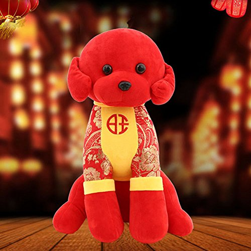 Hegufeng Chinese New Year Gift Handmade Dog Mascot Doll Plush Stuffed Toys