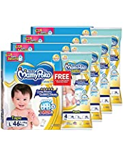 MamyPoko Extra Dry Tape L46 FOC Extra Dry Pants L4, 46 count (Pack of 4), 184 count