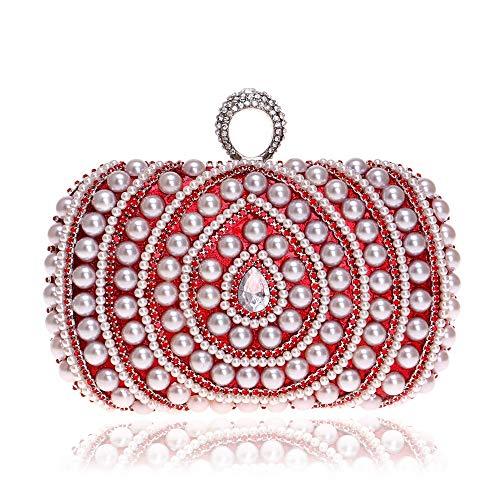 Frizione colore Donna Sera Donna Rosso Da Pochette Con Borsa Per Rosso Fengbingl zq80wTx