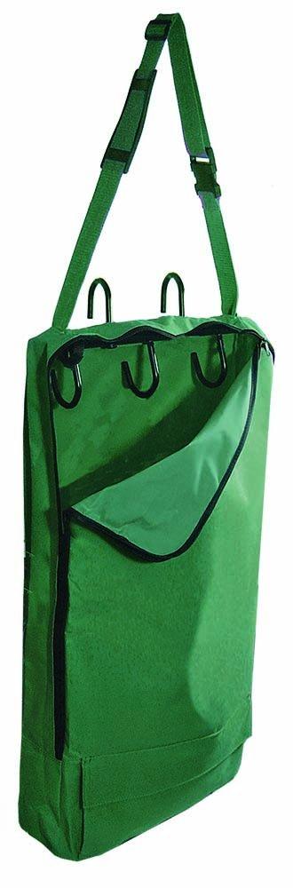 Hunter Green Derby Originals Bridle Halter Bag with 3-Hook Rack and One Year Warranty