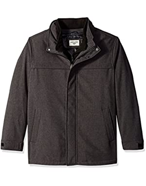Men's Tall Size Filled Soft Shell Jacket with Bib