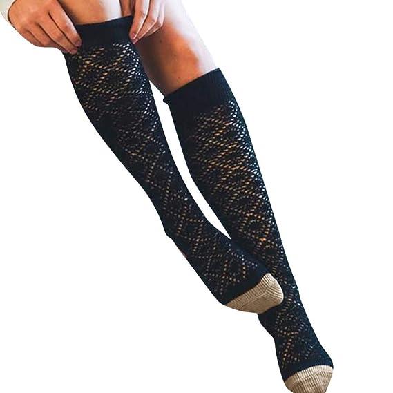 Quaan Herbst Winter Mädchen Damen Frau Bein Hoch ÜBER Das Knie Socken Lange  Baumwolle Socken Warm Stricken niedlich Hose Solid Tights Erfrischende ... 2fc7492f09