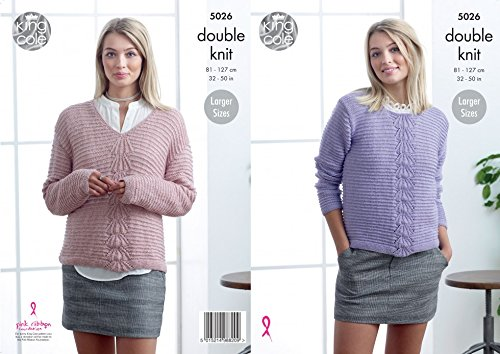 King Cole Ladies Sweaters Glitz Knitting Pattern 5026 DK