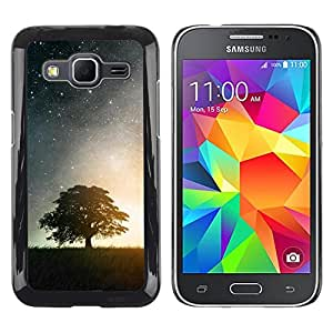 Exotic-Star ( Nature Moonlight Star Tree ) Fundas Cover Cubre Hard Case Cover para Samsung Galaxy Core Prime / SM-G360