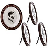 oval frames - Uniek (4 Pack Oval Picture Frame Set for Wall, Matted to 5x7, Remove Mat for 8x10 Photo, Standing Or Hanging