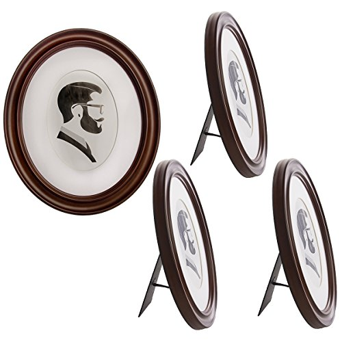 Uniek (4 Pack Oval Picture Frame Set for Wall