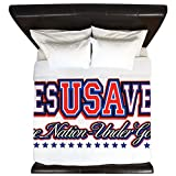 King Duvet Cover USA Jesus Saves Nation Under God