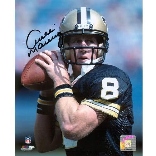 - Archie Manning Autographed Signed Auto New Orleans Saints Black Jersey 8x10 Photograph - Certified Authentic