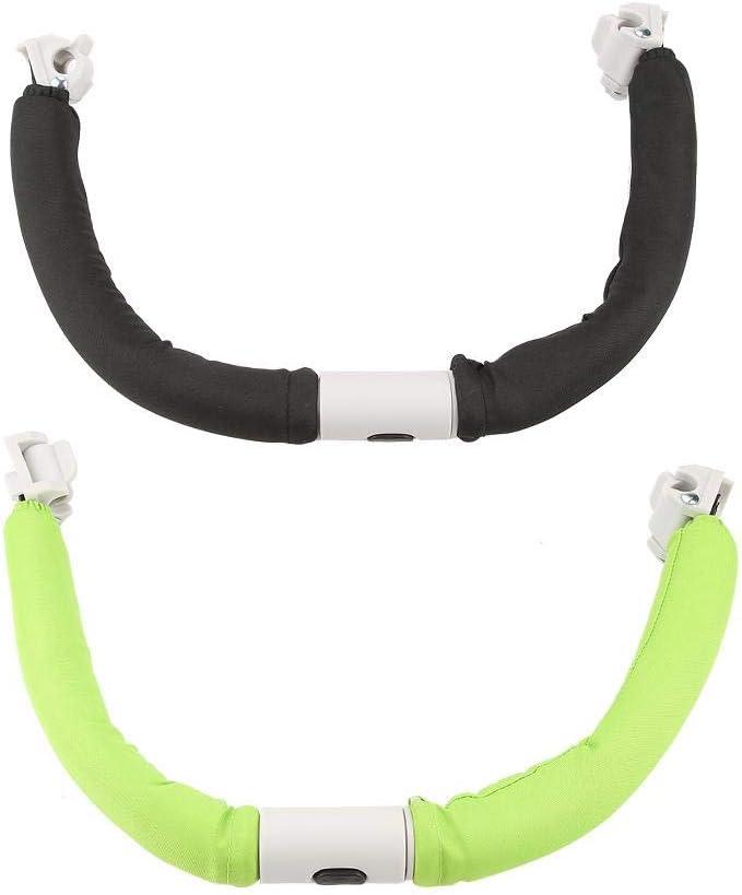 verde Passeggino generico regolabile Manubrio Carrello Paraurti Impugnatura Manubrio Bar bracciolo sicuro Paraurti Accessori passeggino Attrezzi manuali