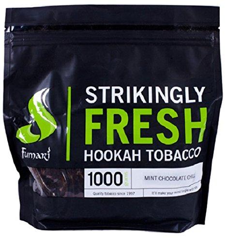Fumari Shisha Hookah Premium Flavors 1kg/1000g - Non Tobacco (Mint Chocolate Chill)