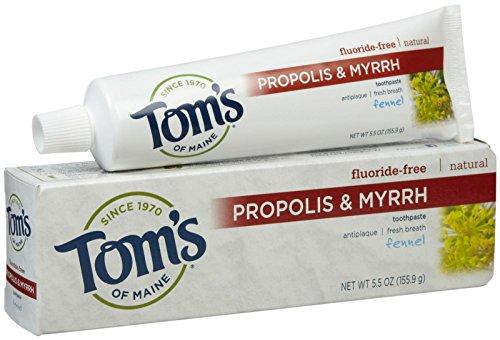 Томс Мэн - Томс Мэн прополиса и смирну Зубная паста фенхеля - 5,5 унции - Дело 6