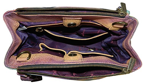 Anuschka , Sac pour femme à porter à l'épaule multicolore multicolore 26 cm x 20 cm x 10 cm