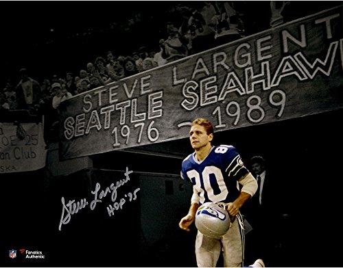Hand Largent Steve Signed (Steve Largent Seattle Seahawks Autographed 11