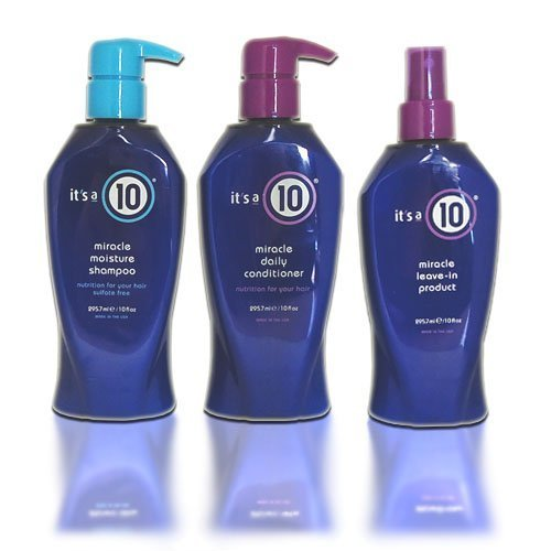 """It's a 10 Miracle Shampoo + Conditioner + Leave in """"Combo Set"""" (Shampoo 10oz + Conditioner 10oz + Leave in 10oz)"""