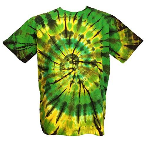 Green Tie Dye (CJ Intertrade Tie Dye Shirt for Men and Women Size S,M,L,XL,2XL,3XL,4XL,5XL Tie Die Shirts Tie Dye T Shirts Tie Die Tee Shirts Hippie Shirt … (XL, Green and Yellow))