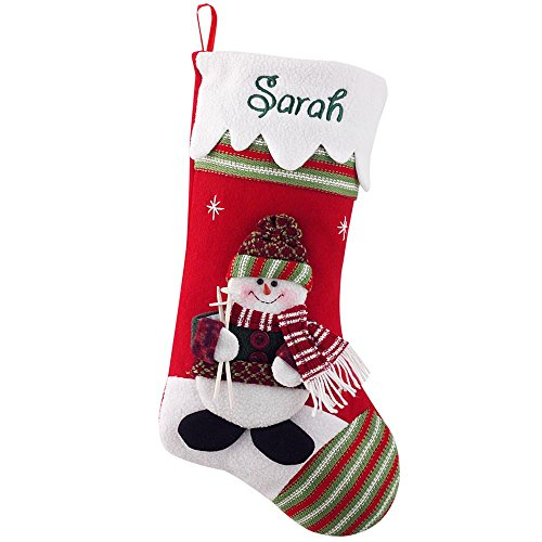 Personal Creations - Personalized Gifts Winter Wonderland Stocking - (Personalized Snowman Christmas Stocking)