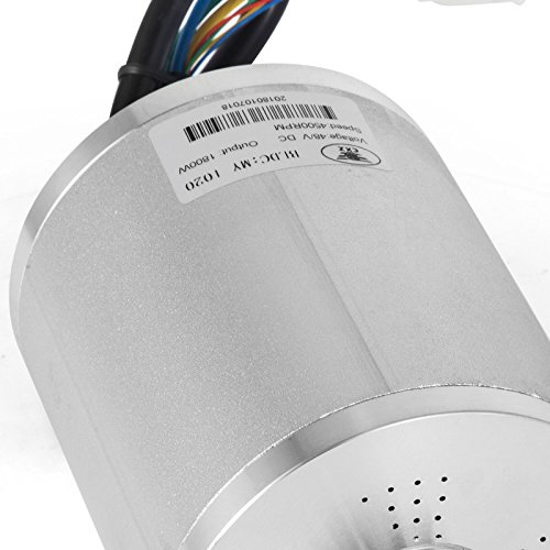 Mophorn 1800W Electric Brushless DC Motor 4500RPM Brushless Motor 48V Electric DC Motor for Go Karts E-Bike Electric Throttle Motorcycle Scooter and More (1800W 48V)