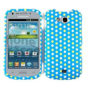 Green Blue and White Polka dots Snap on Cover Case Faceplate for Samsung Galaxy Axiom r830 by mcsharks