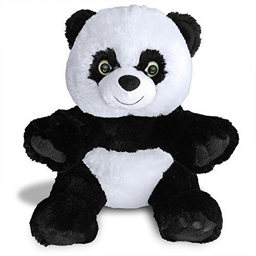 Hashtag Panda Teddy Bear by Build A Furry Friend. Cuddly Soft Plush 16 Inch Stuffed Animal. Handmade quality. With stuffing, star-heart  birth cert. …