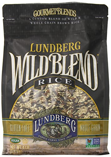 Lundberg Wild Blend, 4 Pounds, Gourmet Wild and Whole Grain Brown Rice Blend ()