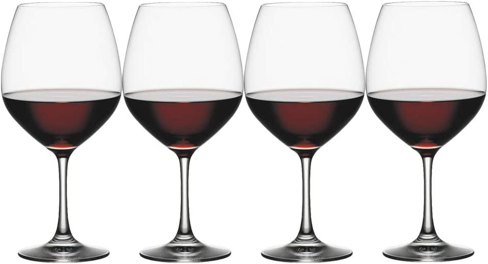Spiegelau Vino Grande Vino Tinto-Balón, Set de 4, Vaso Vino Tinto ...