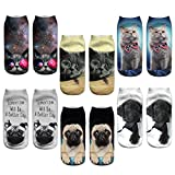 """The anklet socks are 100% brand new and high quality. Cute cartoon pattern, lovely girls will like it. Made from polyester fibre, comfortable to wear. Length: 22cm/8.66"""" (Approx.) Size: One Size (Stretch)"""