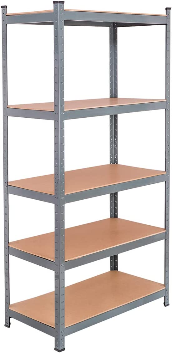 Tangkula 72 Storage Shelves, Heavy Duty Steel Frame 5-Tier Garage Shelf, Metal Multi-Use Storage Shelving Unit for Home Office Dormitory Garage