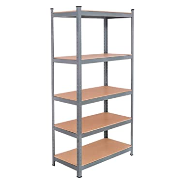 Tangkula 72  Storage Shelves, Heavy Duty Steel Frame 5-Tier Garage Shelf, Metal Multi-Use Storage Shelving Unit for Home/Office/Dormitory/Garage