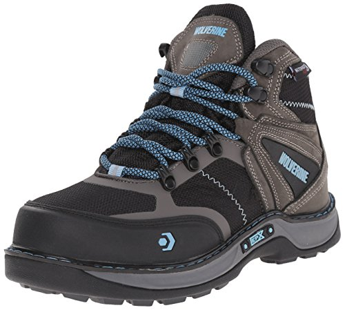 Wolverine Women's Edge FX Work Boot, Grey/Blue, 8.5 M US by Wolverine