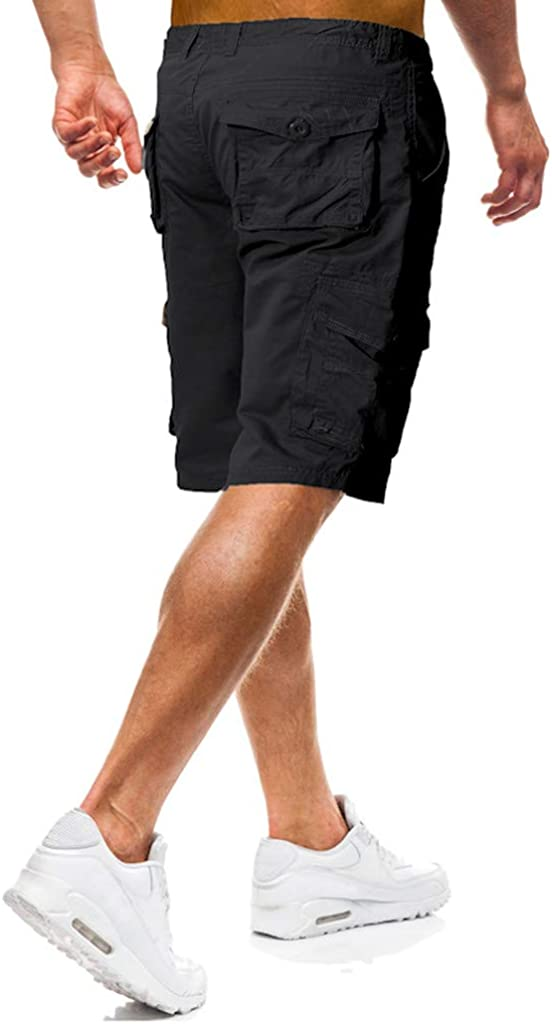 Willow S Mens Lightweight Casual Pure Color Outdoors Pocket Beach Work Trouser Cargo Shorts Pant