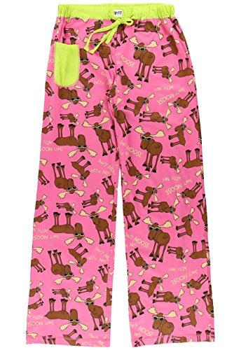 Don't Moose with Me-Moose PJ Yoga Pant by LazyOne,Pink,Medium -