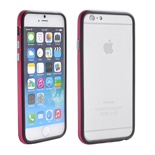 Iphone 6/6s Silicon Bumper Pink Black by G4GADGET®