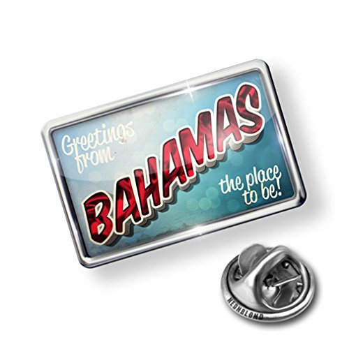 Atlanta Pin (Pin Greetings from Bahamas, Vintage Postcard - Lapel Badge - NEONBLOND)