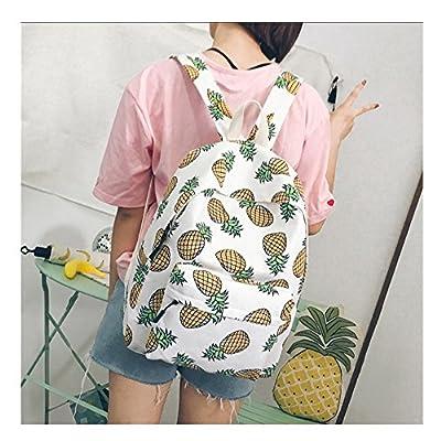80%OFF Fresh Fruit Printing School Bag Bookbag Laptop Travel Backpacks Rucksack Canvas Bags Casual Daypacks for Boys Girls