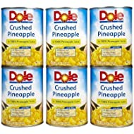 Dole Crushed Pineapple in 100% Juice, No Sugar Added 20 oz (Pack of 12)