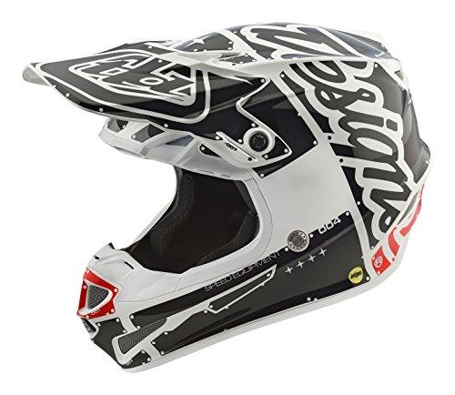Troy Lee Designs Factory adulto SE4Motocross Casco de motocicleta, color blanco, Blanco, Grande