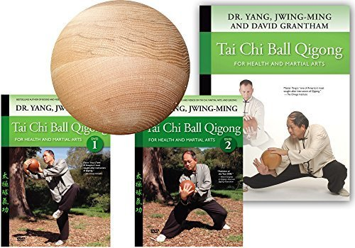 Bundle: Tai Chi Ball deluxe set with wood ball, 2 DVDs and book (YMAA) by YMAA Publication Center