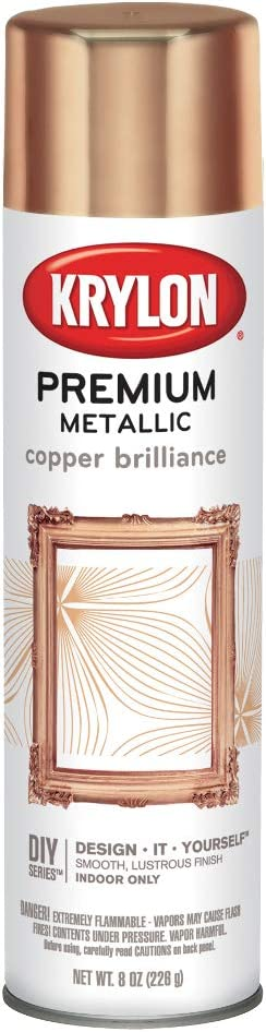 Krylon K01020A07 Premium Copper Metallic Brilliance Spray Paint