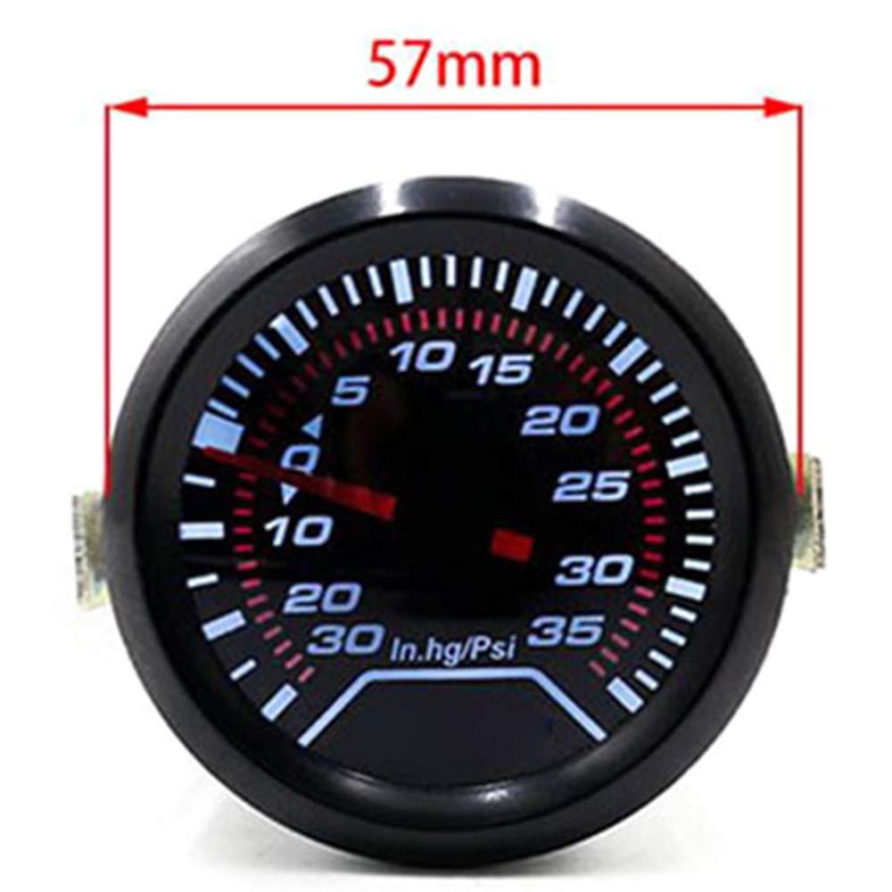 manometro indicatore di pressione di carica sugeryy strumento turbina universale per auto indicatore digitale fumo turbo 52 mm HG PSI manometro per auto