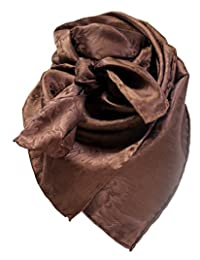 Wild Rag Chocolate Silk Jacquard