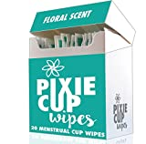 Pixie Menstrual Cup Wipes - The Recommended Wipes for Your Period Cups - 100% Alcohol Free - Biodegradable - Antiseptic