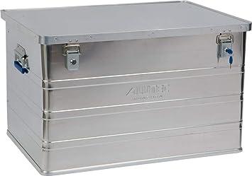 ALUTEC MÜNCHEN ALT-CL11186 Caja de aluminio con cerradura de cilindro (790 x 560 x 487 mm), Plata, 186 Liter: Amazon.es: Bricolaje y herramientas