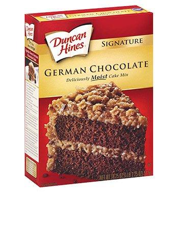 Duncan Hines Signature German Chocolate Cake Mix, 16.5 oz. - 2 Pack