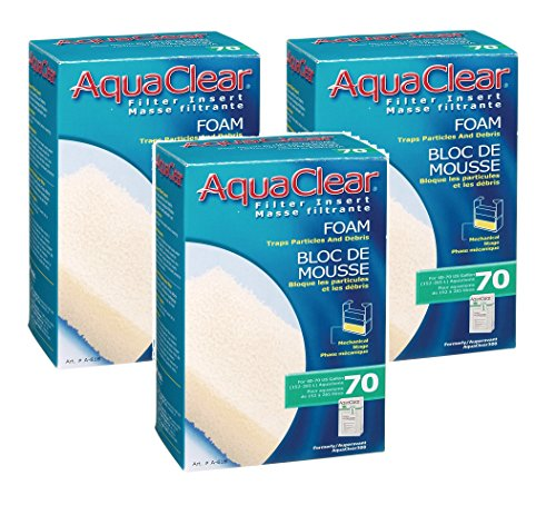 (3 Pack) AquaClear 70 Foam Filter ()